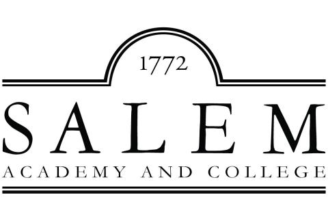 Salem Academy and College College Logo, Black and White
